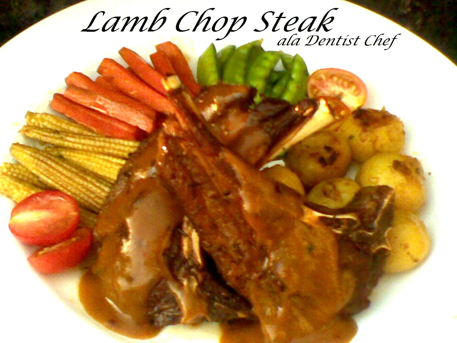 lamb chop steak resep Resep Lamb Chop: Pan Grilled  DENTIST CHEF