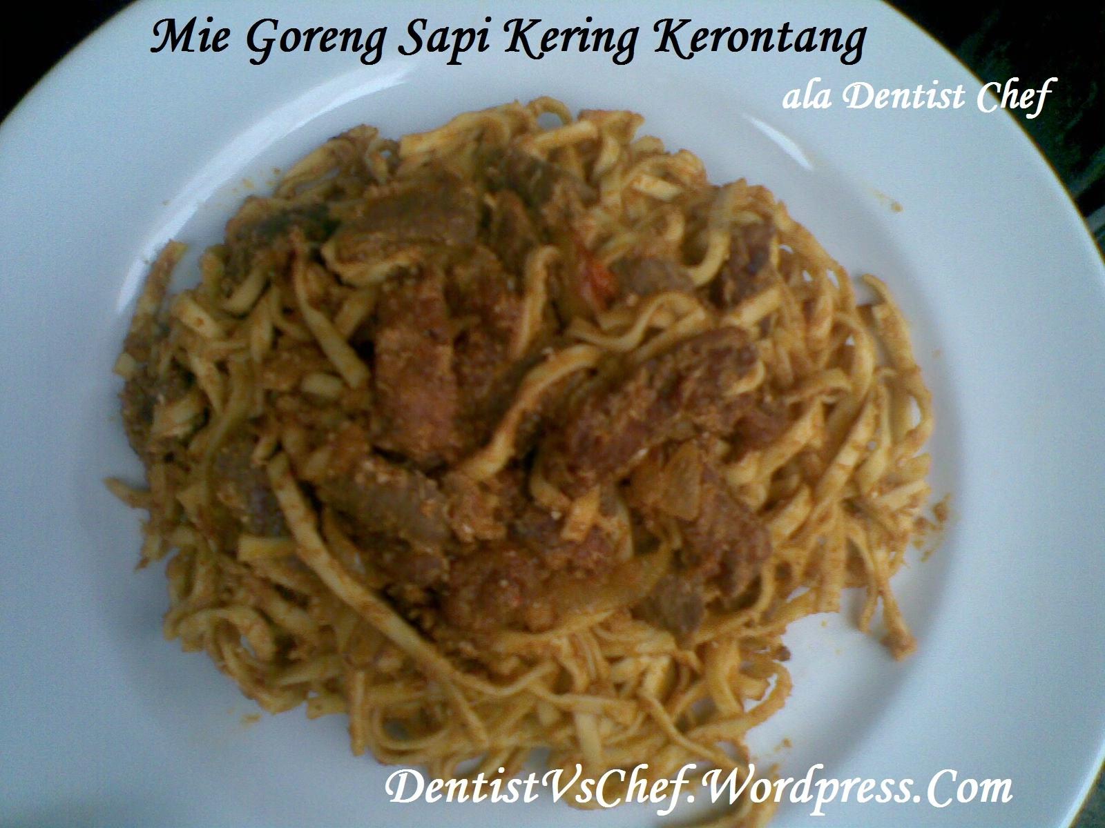 Resep Mie Goreng Sapi Kering Kerontang ala Dentist Chef