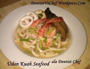 resep udon kuah seafood