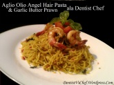 resep Aglio Olio Angel Hair Grilled Butter Garlic Prawn