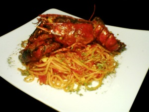 recipe lobster saghetti arabiata sauce