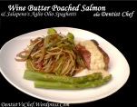 Resep Butter Poached Salmon & Sliced Jalapeno's Aglio Olio Spaghetti