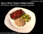 salmon panggang tomat pedas spicy cherry tomato baked salmon butter ...