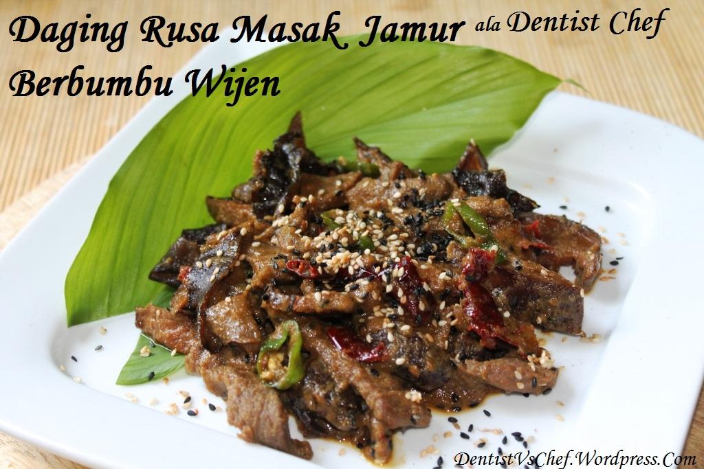 Resep Daging Rusa Masak Jamur Berbumbu Wijen (Stir Fried Venison Deer ...