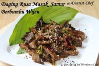 resep daging rusa masak bumbu wijen jamur