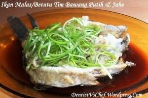 resep ikan malas tim bawang putih jahe