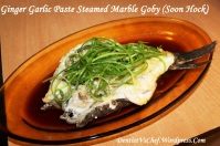 steamed Marble goby ginger garlic paste resep ikan malas
