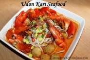 resep mie udon kari seafood  udang kepiting