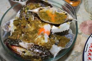cara membuat kepiting saus cabe hijau ijo
