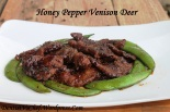 recipe blackpepper honey venison deer