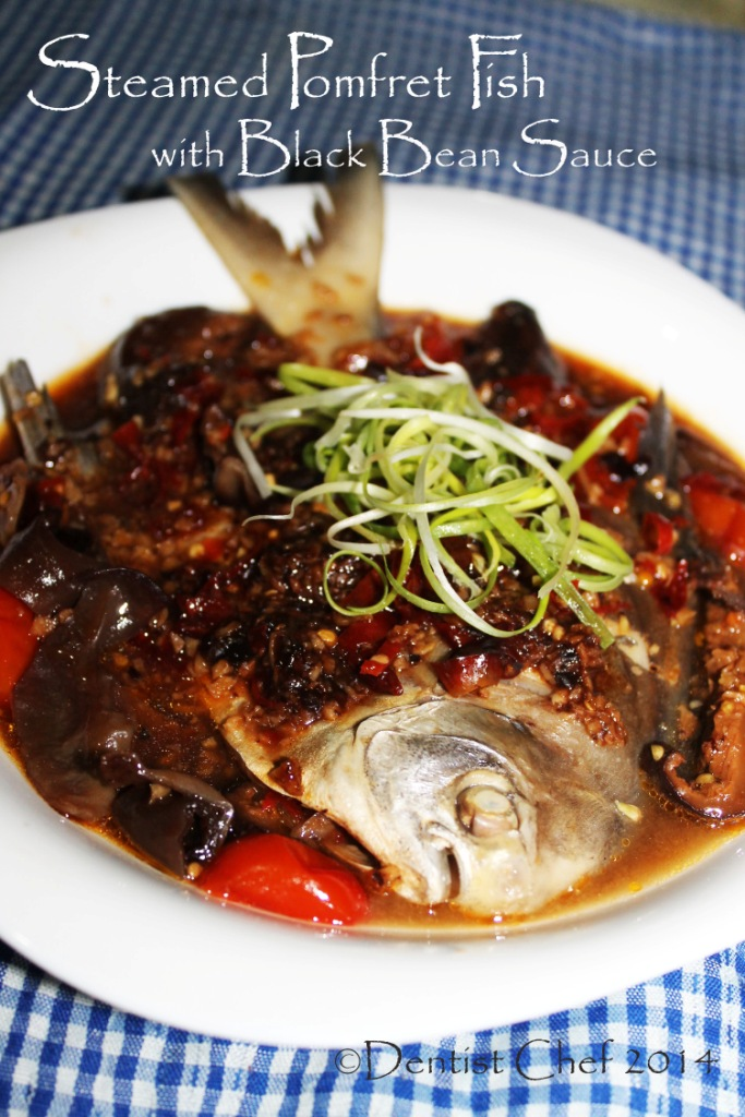 Steamed pomfret with black bean sauce ikan bawal tim for Chinese steamed fish recipe