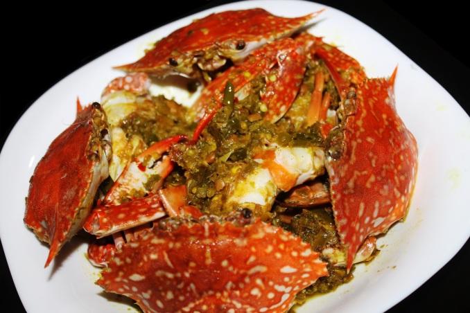 resep kepiting cabe hijau ijo rajungan