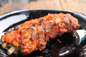 roasted ribs iga bakar rica rica spicy asian sauce
