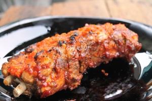 roasted ribs iga bakar rica rica spicy asian sauce