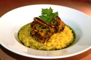 saffron risotto roasted beef ribs