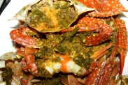 telur kepiting blue crab roe