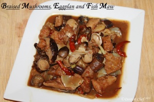 Braised Mushroom recipe eggplant fish maw