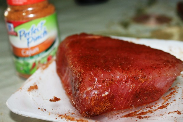 cajun seasoning tuna steak recipe
