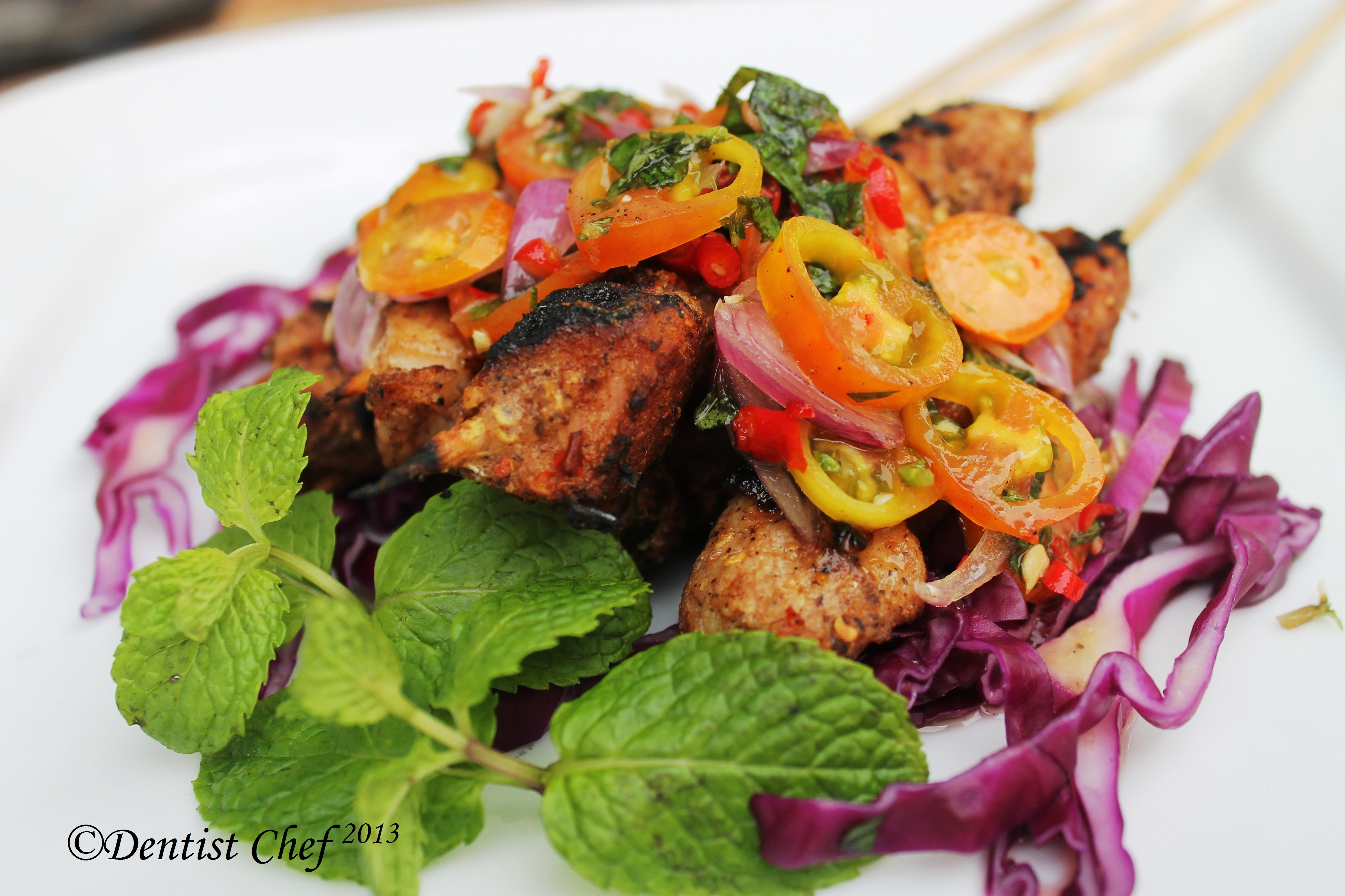 Vietnamese Sirloin Skewers With Spicy Carrot Salad Recipe — Dishmaps