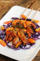 grill shrimp prawn honey sweet sour asian