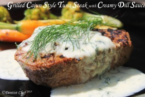 grilled Tuna Steak creamy dill sauce recipe