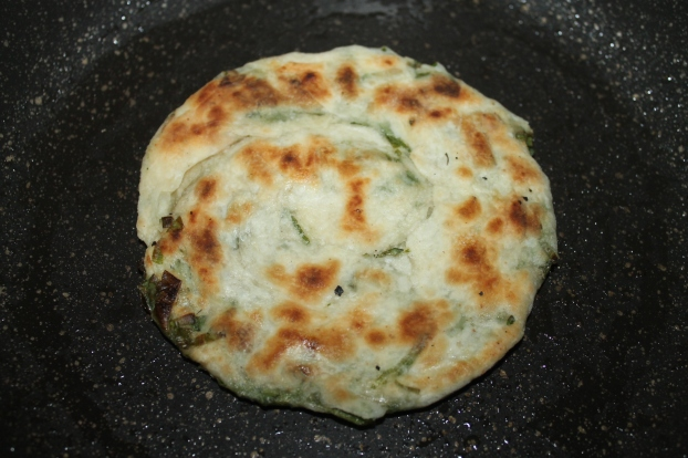 pan fried pancake savory recipe