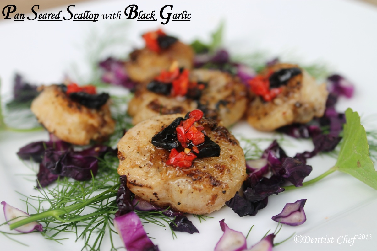 Pan Fried Scallop With Black Garlic Fermented Ala