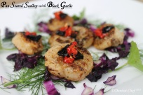 pan seared scallop blackgarlic chilli oil how seared scallop
