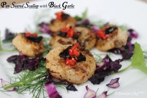 pan seared scallop blackgarlic chilli oil how seared scallop