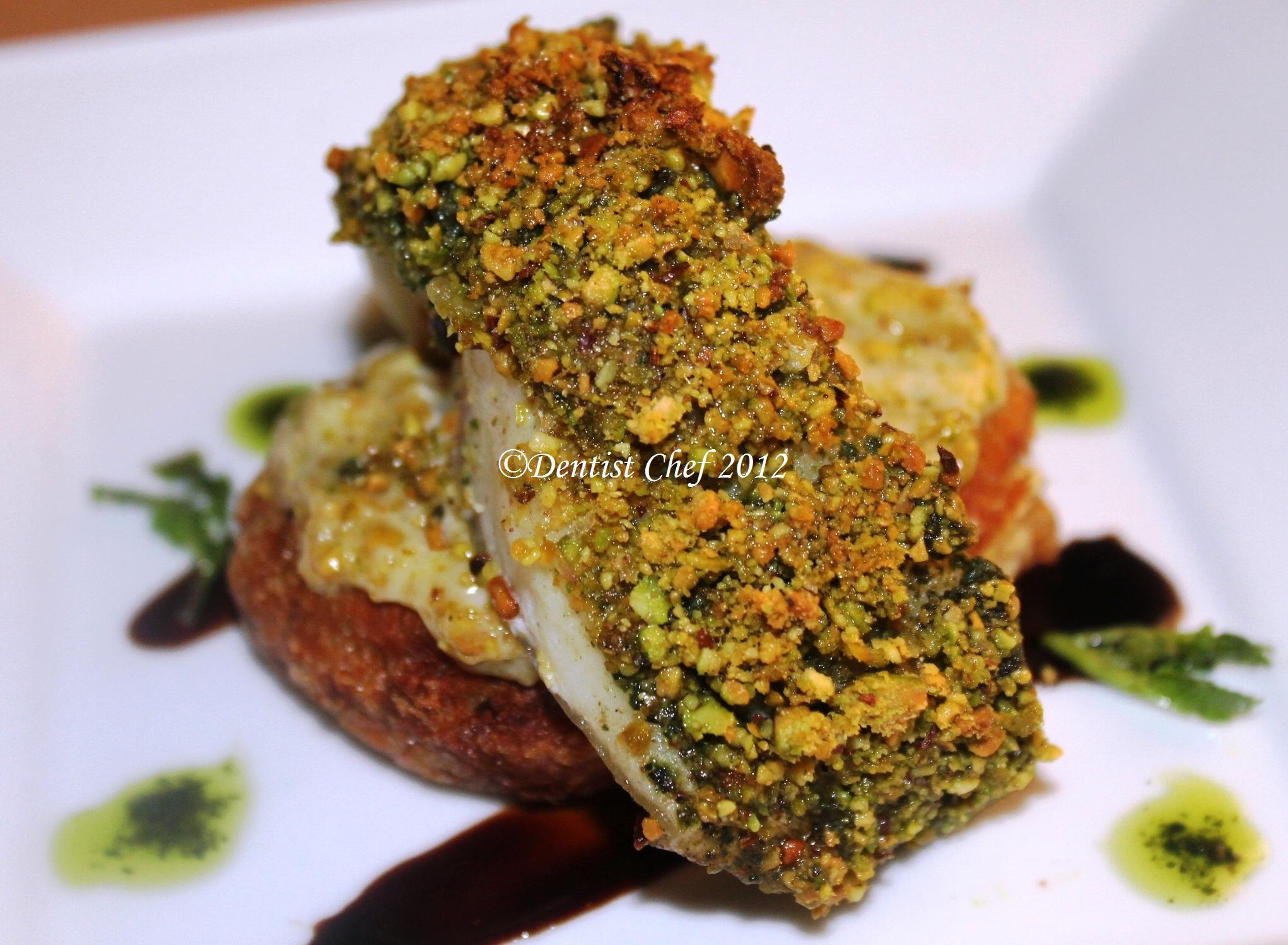 Pistachio Crusted Chilean Seabass Fish Fillet ala Dentist Chef