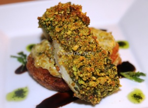 PISTACHIO NUTS CRUSTED FISH SEA BASS RECIPE