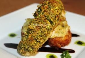 pisthachio crusted sea bass