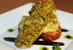 pisthachio crusted sea bass
