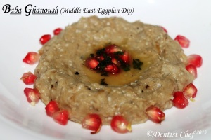 recipe baba ghanoush arabic middle east eggplan aubegrine dip tahini