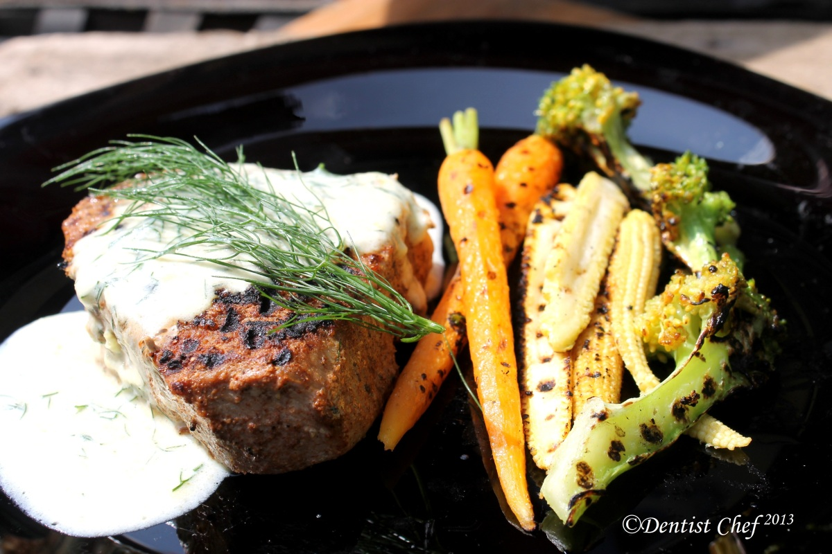 Grilled Cajun Style Tuna Steak with Creamy Dill Sauce ala Dentist Chef