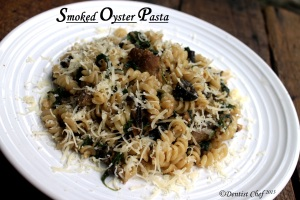 smoked oyster pasta recipe rotini appetizer starter oyster recipe