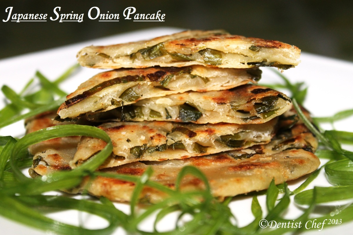 Japanese Pancake Recipes: Japanese Spring Onion/Scallion/Leek Pancake Ala Dentist