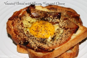 toasted bread with bacon egg and cheese breakfast recipe