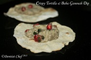 tortilla bread with baba ganoush dip