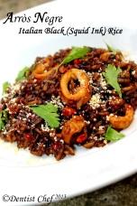 arroz negre italian squid ink rice paella risotto