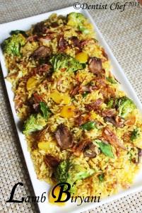 biryani lamb rice recipe resep nasi biryani arab enak