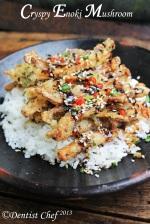 Crispy enoki mushrooms recipe tempura mushroom enokitake