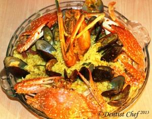 how make seafood paella saffron rice italian rice recipe paela crab prawn mussle