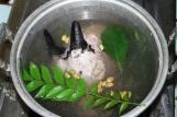 kepala kambing rebus goat head boiled curry