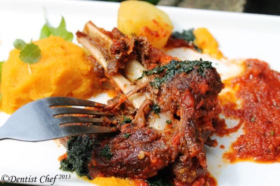 lamb shank braised recipe tender meat tomato wine