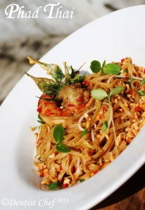 Pad thai noodle shrimp phad thai recipe resep dentist chef