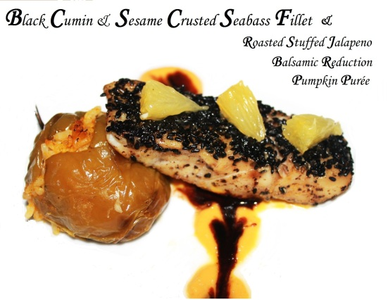 pan seared seabass fillet crusted black cumin sesame how pan fried seabass fish