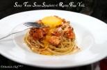 Pasta Spaghetty spicy tuna tomato sauce easy pasta recipe