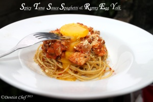 Pasta Spaghetty spicy tuna tomato sauce easy pasta recipe