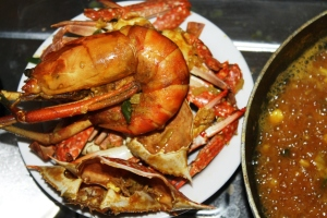 prawn crab paella recipe seafood step by step recipe